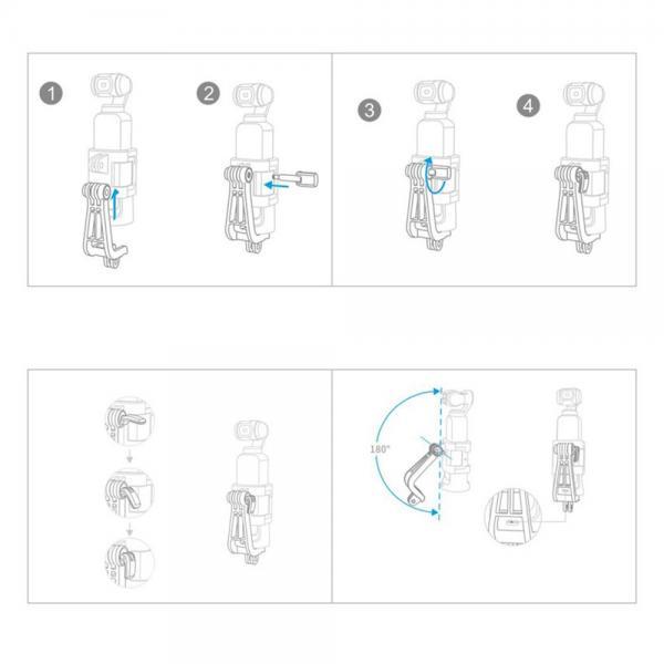 PGYTECH DJI OSMO Pocket - L Action Kamerahalterung